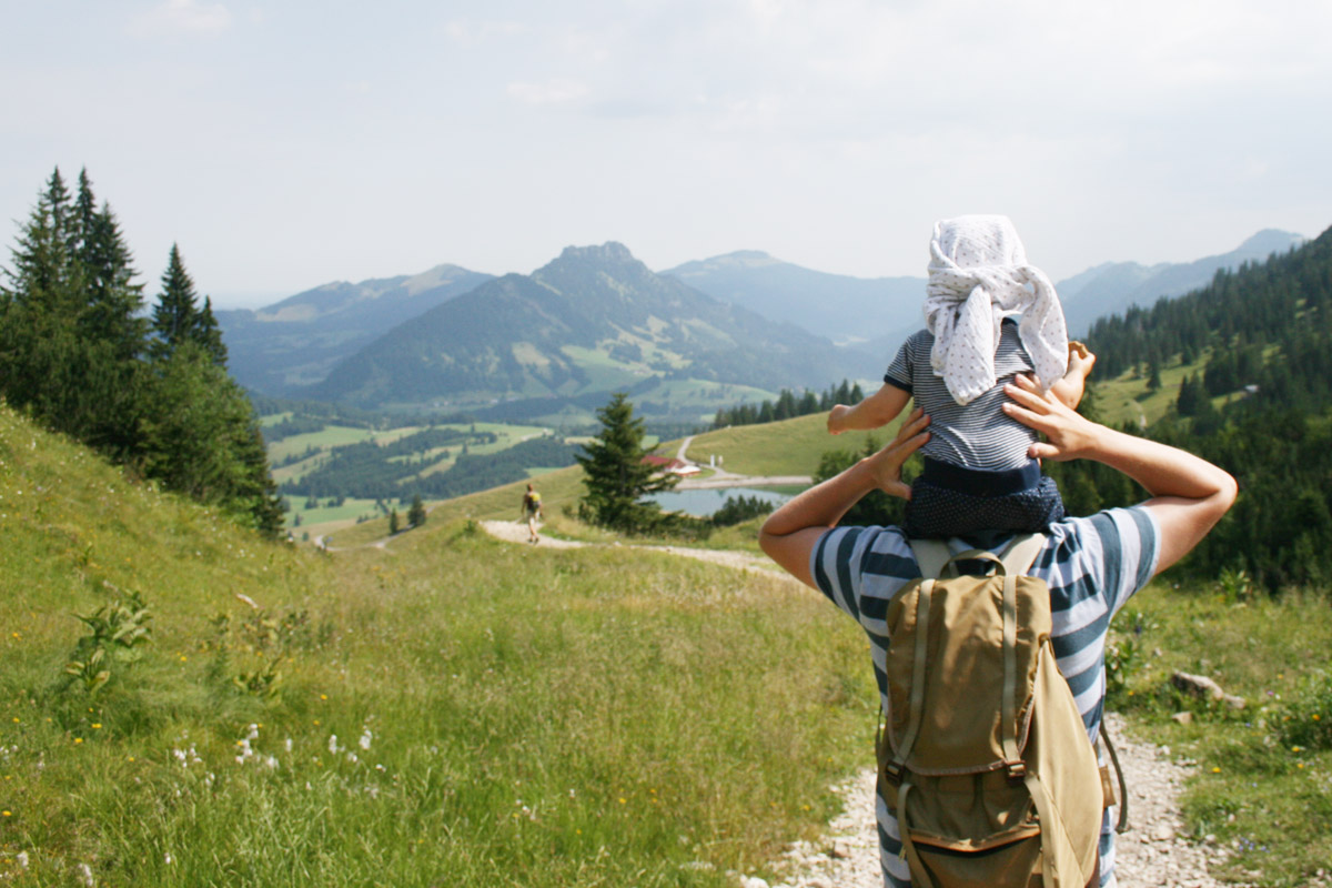 Wandern im Allgäu auf dem Iseler bei Oberjoch. Foto: Julia Marre